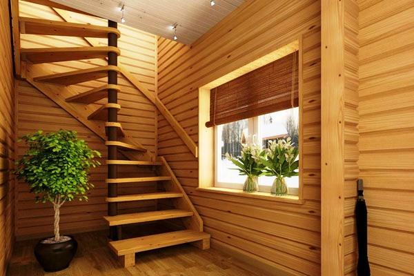 Лестница из дерева своими руками фото