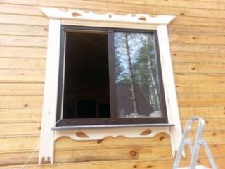 Наличники на окна деревянного дома своими руками
