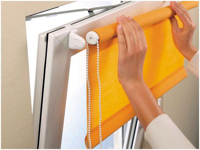Инструкция по установке рольшторы на пластиковые окна.