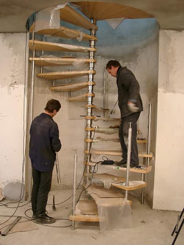 Поручни винтовой лестницы своими руками