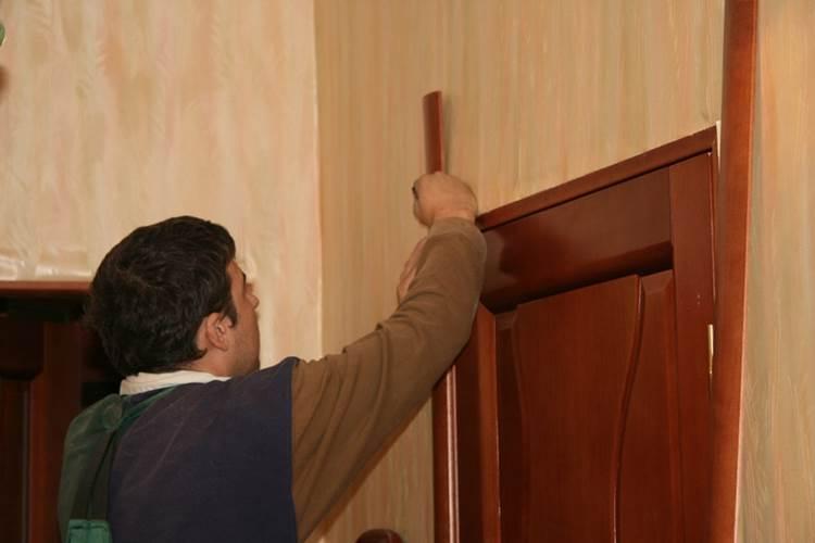 Установка обналички дверей своими руками